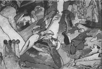 Vasily Kandinski, Composición, 1910.