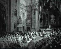 Investidura de Alfonso XII como gran maestre de las Órdenes Militares.
