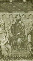 Jaime I en las Cortes aragonesas.