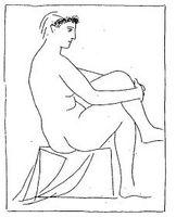 Pablo Picasso, Mujer desnuda coronada<br /><br /> de flores (Suite Vollard, 1930).