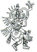 Quetzalcóatl en el Códice Borbónico.