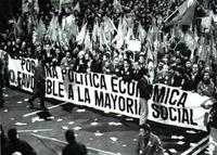 Manifestación del 14-12-88, día de la huelga general contra el Gobierno González.