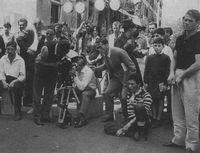 Durante el rodaje de Accattone (1961), de Pier Paolo Pasolini