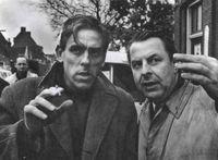 El director Fons Rademakers (a la derecha), FOTO Holiand Film, 2003.